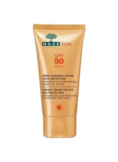 Nuxe Sun Creme Fondante Visag SPF50 - Bronzlaştırıcı Etkili Koruyucu Güneş Kremi 5 0ml Bronz